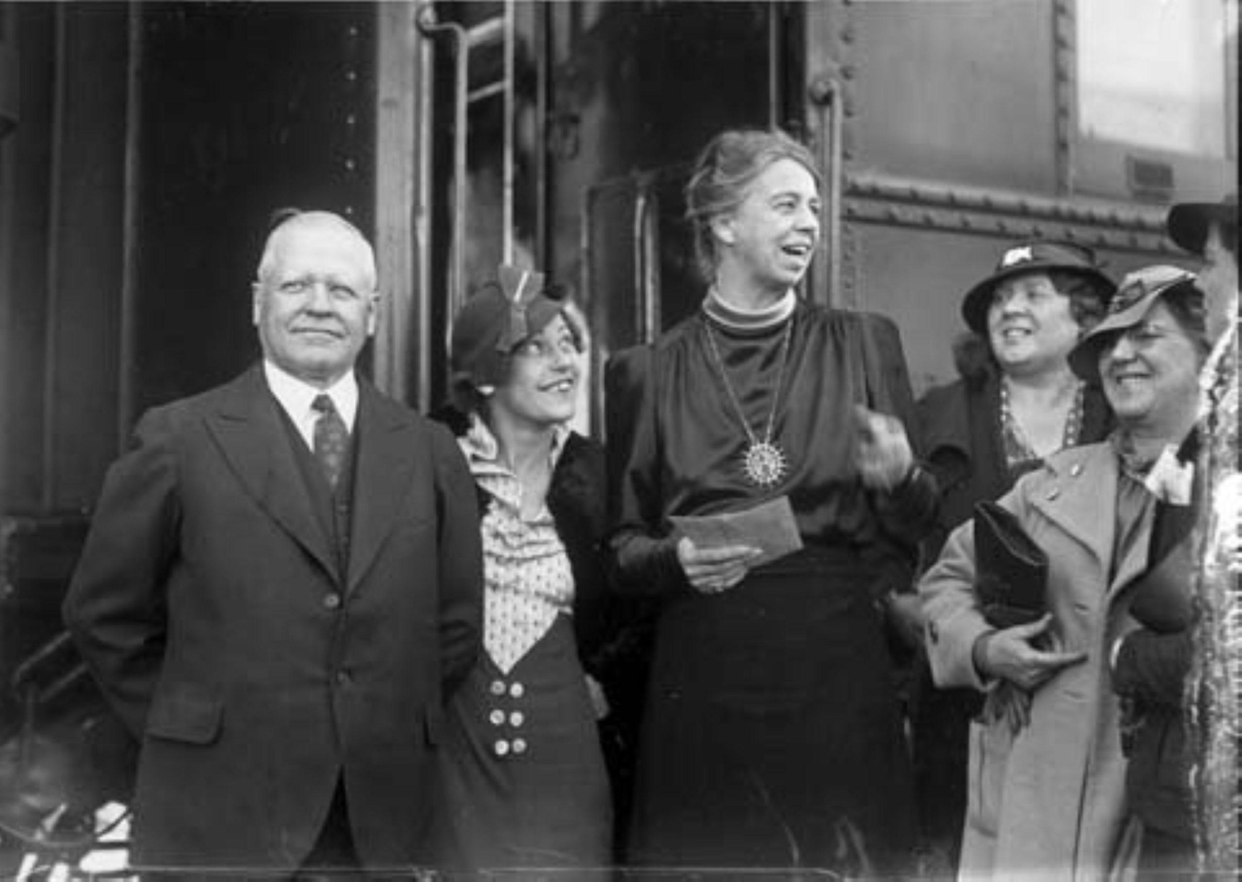 Gov. Miller with visiting Eleanor Roosevelt