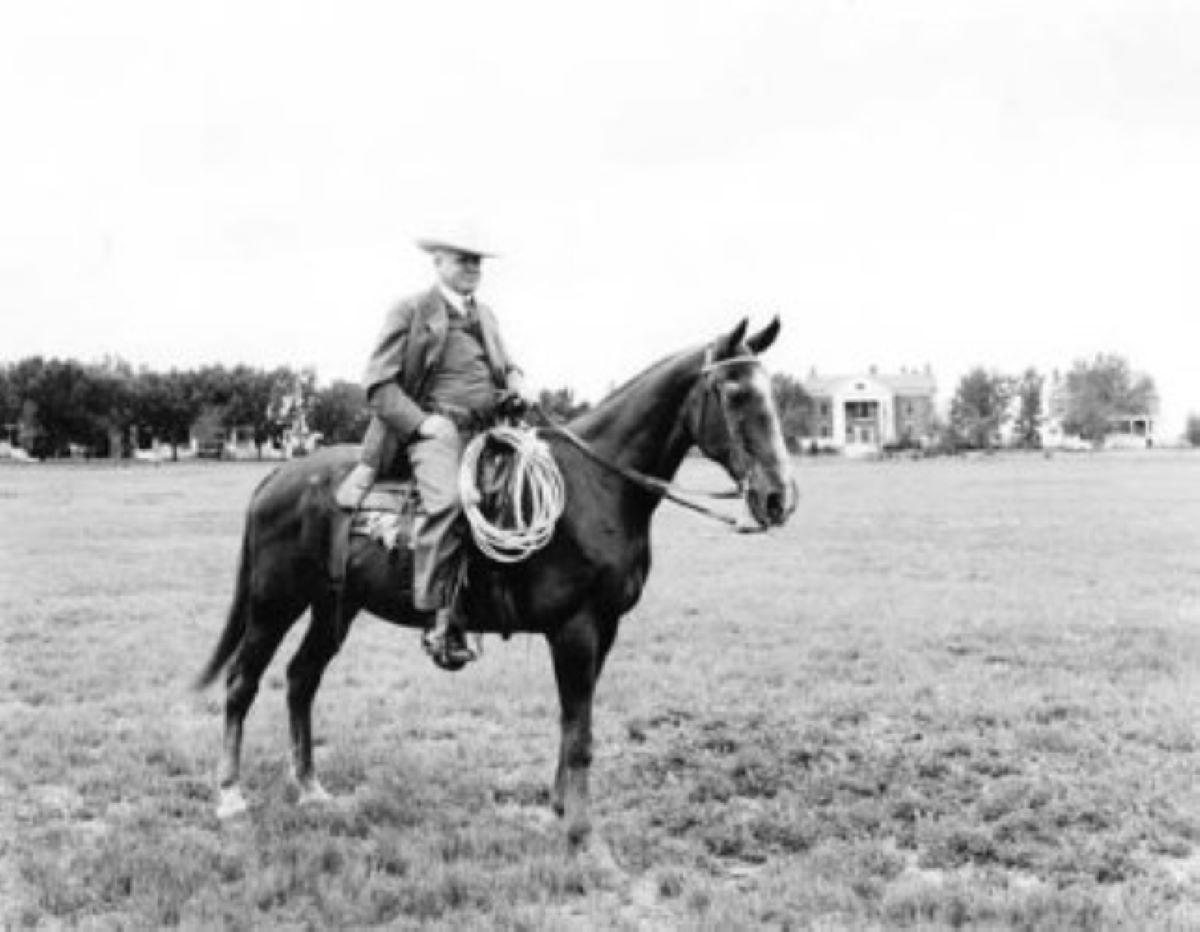Gov Leslie Miller on Horse